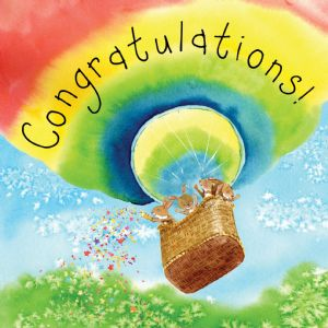 FIZ49  Card For Congratulations Rabbits